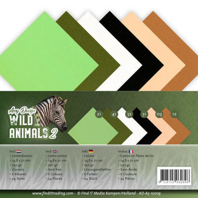 AD-A5-10019 Linnenpakket - A5 - Amy Design - Wild Animals 2