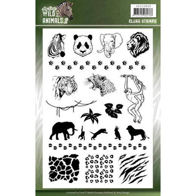 ADCS10058 Clear Stamps - Amy Design - Wild Animals 2