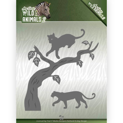 ADD10175 Dies - Amy Design - Wild Animals 2 - Panther