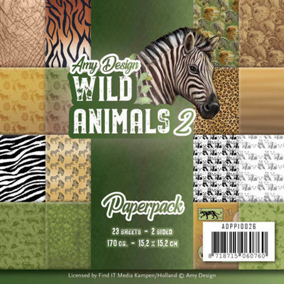 ADPP10026 Paperpack - Amy Design - Wild Animals 2