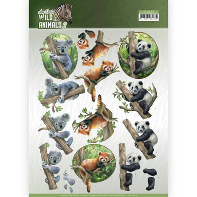 CD11300 3D Knipvel - Amy Design - Wild Animals - Bears