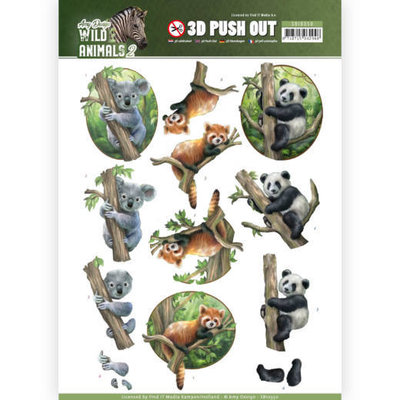 SB10350 3D Pushout - Amy Design - Wild Animals 2 - Bears
