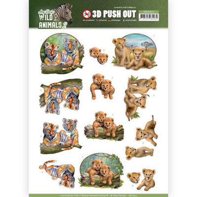 SB10352 3D Pushout - Amy Design - Wild Animals 2 - Twins