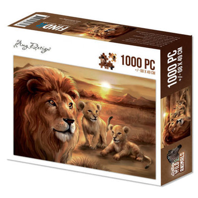 Puzzle 1000 pc - Amy Design - Wild Animals - Lion with cubs