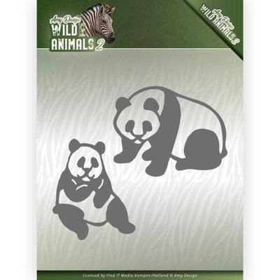 ADD10180 Dies - Amy Design - Wild Animals 2 - Panda Bear