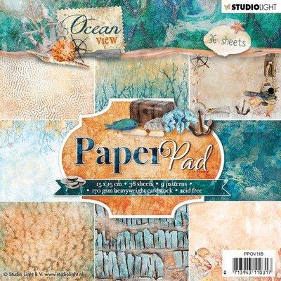 Studio Light Paper pad 36 vel Ocean View 3.0 nr 118 PPOV118