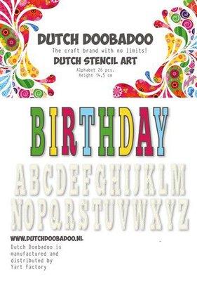Dutch Doobadoo Dutch Stencil Art alfabet 5 (450 mm) 470.990.113