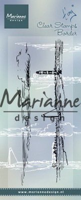 Marianne Design Clear Stamps Tiny's border - Horizon TC0874 135.5x47.5 mm