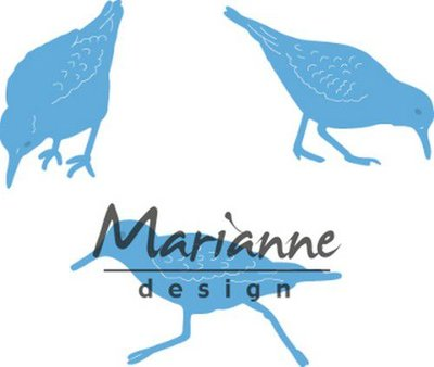 Marianne Design Creatable Tiny's sand pipers LR0596 20.5x31.5, 35.5x27, 45.5x24.5 mm