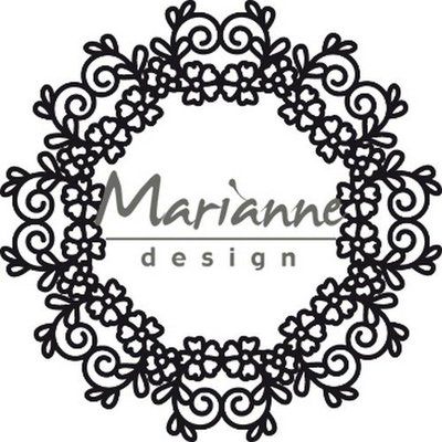 Marianne Design Craftable Floral Doily CR1470 110 mm