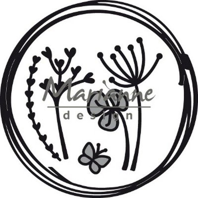 Marianne Design Craftable Doodle cirkel CR1468 85.5x85.5 mm
