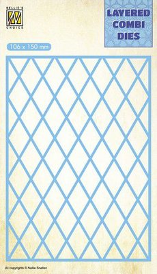 Nellie's Choice Layered Combi Die Lattice laag A LCDL001 106x150mm