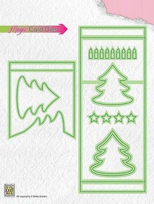 Nellies Choice Special Card Die - Magic Pine tree MCD006 69x169mm