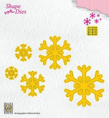 Nellies Choice Shape Die - sneeuwvlokken SD168 14x15/19x20/29x30/38x40/48x50