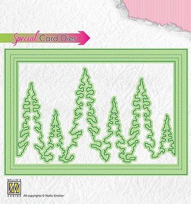 Nellies Choice Special Card Die - kerstbomen - Shake CBD004 140x97 mm