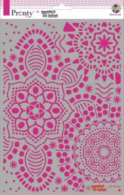 Pronty Mask stencil Mandala background A4 470.770.009 by Jolanda
