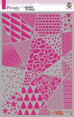 Pronty Mask stencil Geometric backgrounds A4 470.770.008 by Jolanda