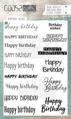 COOSA Crafts clearstamps A6 - Birthday Wishes COC-071