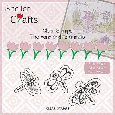Nellies Choice Clearstempel - Pond Life - vlinders CLP005 21x22mm/23x23mm/26x22mm