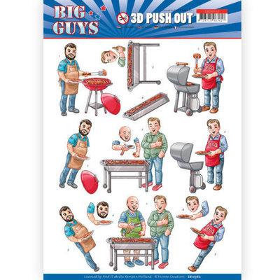SB10360 3D pushout - Yvonne Creations- Big Guys - Backyard BBQ