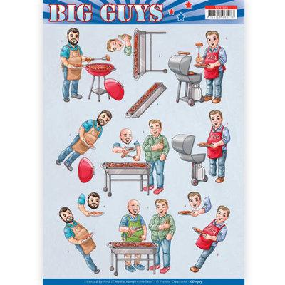 CD11329 3D Knipvel - Yvonne Creations- Big Guys - Backyard BBQ