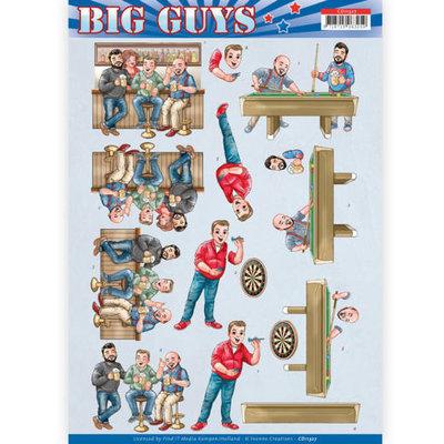 CD11327 3D Knipvel - Yvonne Creations- Big Guys - Pub Night