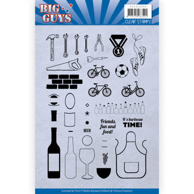YCCS10050 Clear Stamps - Yvonne Creations - Big Guys