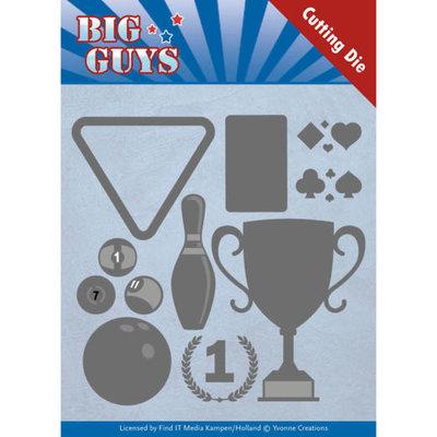 YCD10170 Dies - Yvonne Creations - Big Guys - Play to Win – 10.7 x 11.8cm