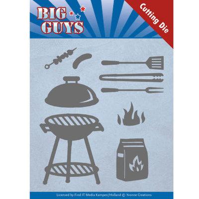 YCD10171 Dies - Yvonne Creations - Big Guys - BBQ time – 10,7 x 11,5 cm