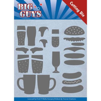 YCD10172 Dies - Yvonne Creations - Big Guys - Fast food -11,8 x 13,1 cm