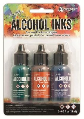 Ranger Alcohol Ink Kits  Rustic Lodge Bottle 3x15 ml TIM19770 Tim Holtz 3x15ml