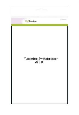 CraftEmotions Synthetisch papier - Yupo wit 10 vl A4 - BLUE 234 gr