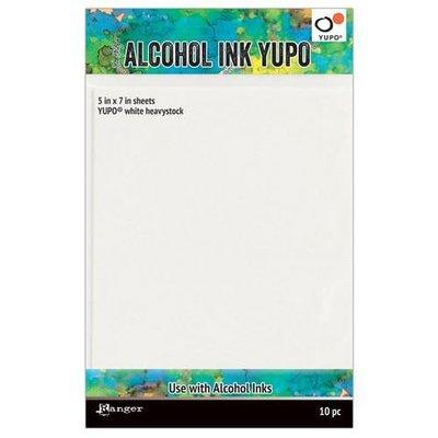 Ranger Alcohol Ink Yupo Paperc White 144 Lbs 5x7 10 vel TAC63339