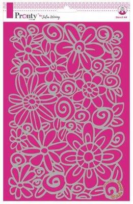 Pronty Stencil Flowers 470.765.013 A4 Julia Woning