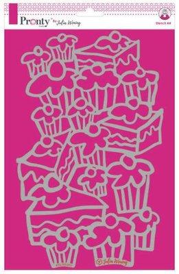 Pronty Stencil Cakes 470.765.012 A4 Julia Woning