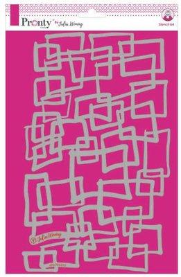 Pronty Stencil Squares 470.765.010 A4 Julia Woning