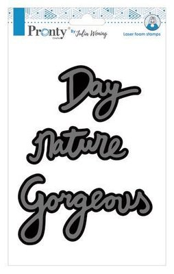 Pronty Foam stamp Gorgeous Nature Day 494.904.013 A5 Julia Woning