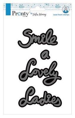 Pronty Foam stamp A lady Lovely smile 494.904.012 A5 Julia Woning
