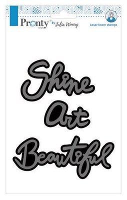 Pronty Foam stamp Beautiful Art Shine 494.904.011 A5 Julia Woning