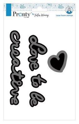 Pronty Foam stamp Love2B creative 494.904.010 A5 Julia Woning