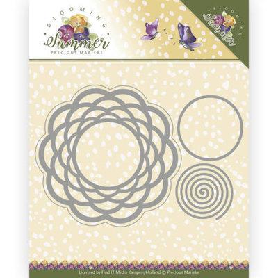 PM10152 Dies - Precious Marieke - Blooming Summer - Braided Circle -17x11,6cm