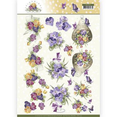 CD11313 3D Knipvel - Precious Marieke - Blooming Summer - Summer Pansies