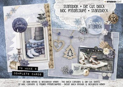 Studio Light Die cut blocs A5 12 vel Snowy Afternoon nr. 23 A5STANSBLOKSA23