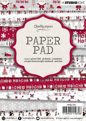Studio Light Paper pad A6 36 vel 12 designs nr 120 PPSL120 14,8x10,5cm