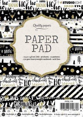 Studio Light Paper pad A6 36 vel 12 designs nr 119 PPSL119 14,8x10,5cm