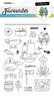 Studio Light Clearstempel A5 Favourites nr 384 STAMPSL384