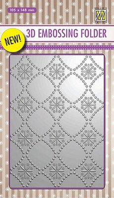Nellies Choice 3D Emb. folder Backgrounds bloemen 2 EF3D002 105x148mm