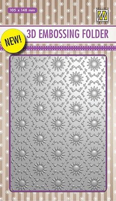 Nellies Choice 3D Emb. folder Backgrounds bloemen 1 EF3D001 105x148mm