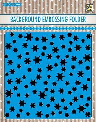 Nellies Choice Emb.folder Achtergrond sneeuwvlokken EEB021 150x150mm