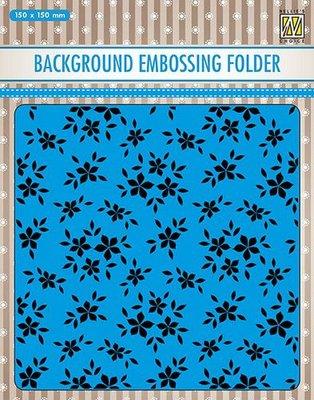 Nellies Choice Emb.folder Achtergrond kleine bloemen EEB019 150x150mm